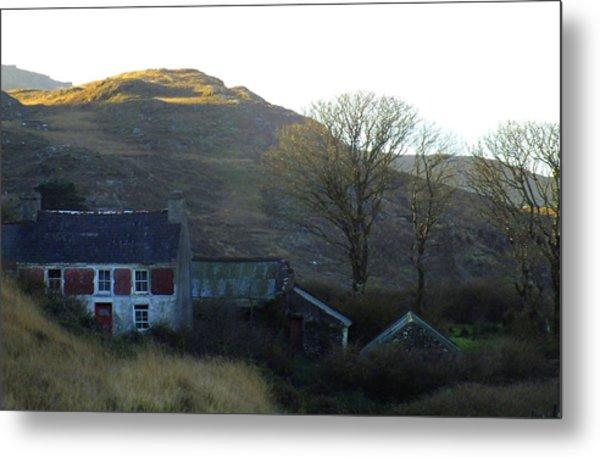Cottage On Hillside Metal Print