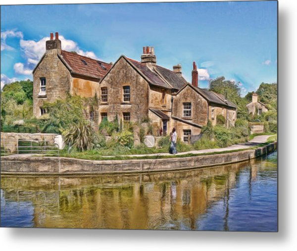 Cottages At Avoncliff Metal Print