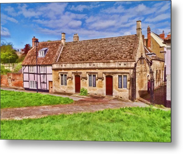 Cottages Devizes -2 Metal Print