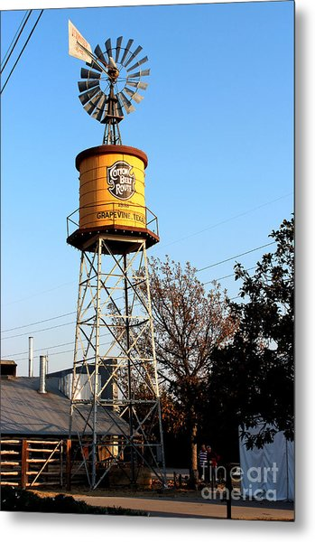 Cotton Belt Route Water Tower In Grapevine Metal Print