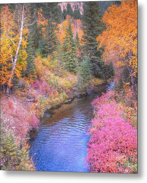 Cotton Candy Creek Metal Print