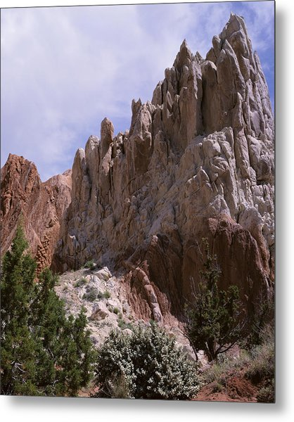 Cottonwood Spires 2-v Metal Print
