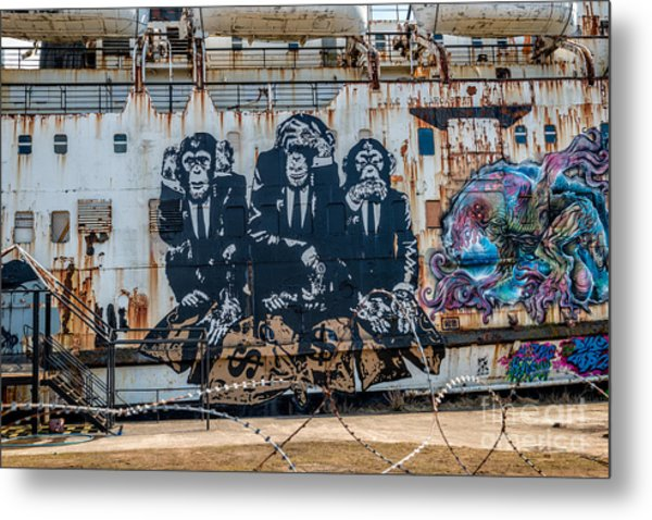 Metal Print featuring the photograph Council Of Monkeys 2 by Adrian Evans