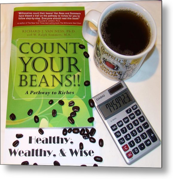 Count Your Beans Metal Print