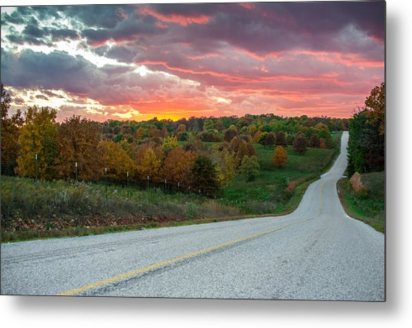 Metal Print featuring the photograph Country Back Roads - Northwest Arkansas by Gregory Ballos