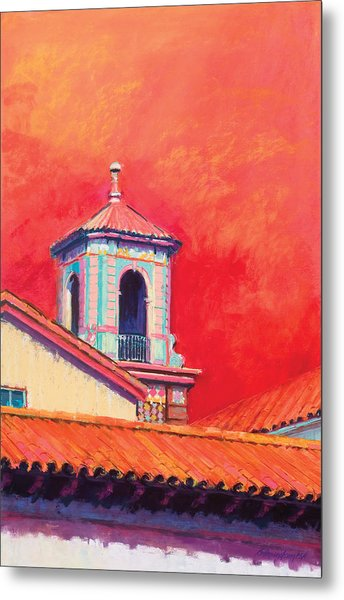 Country Club Plaza Metal Print by Beverly Amundson