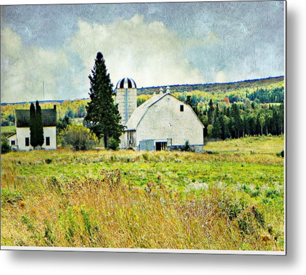Country Farm Metal Print by Dianne  Lacourciere