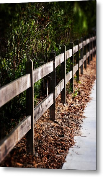 Country Fence Color Metal Print