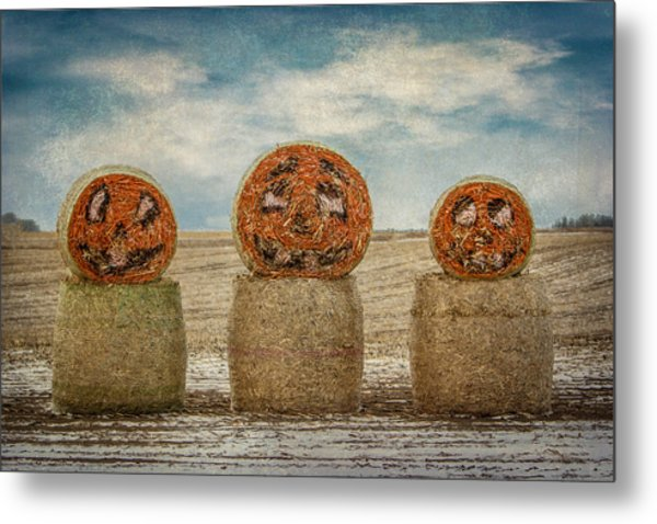 Country Halloween Metal Print