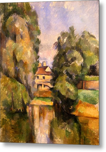 Country House By The Water, C.1888 Metal Print