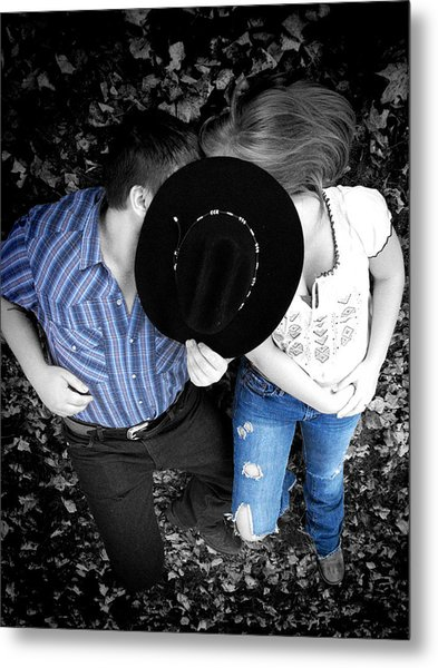 Country Kissin Metal Print