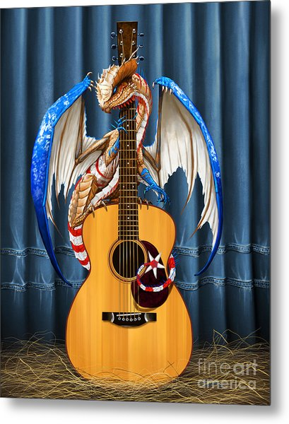 Country Music Dragon Metal Print