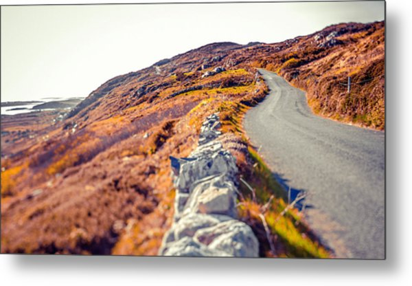 Country Road In Autumn Metal Print by Moreiso