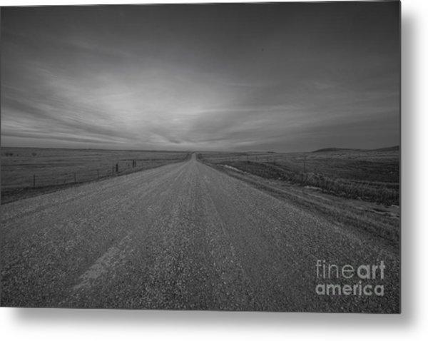 A Country Road Of South Dakota Metal Print