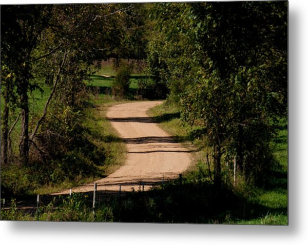 Country S Curve Metal Print