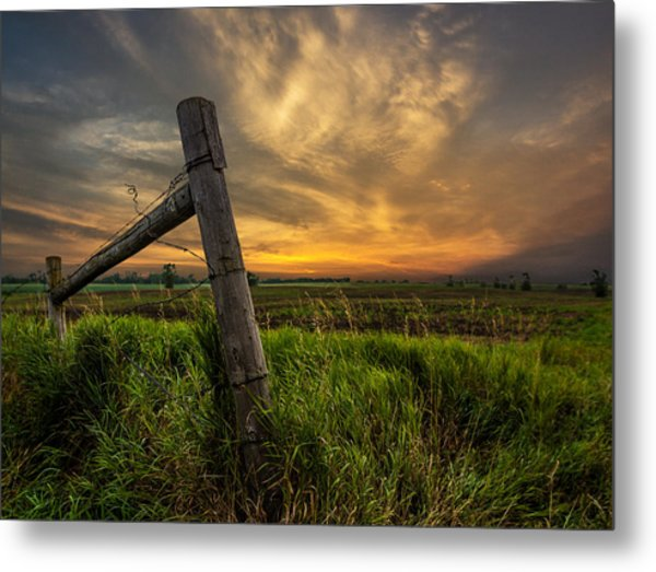 Country Sunrise Metal Print