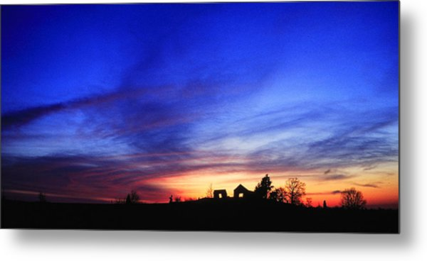 Country Sunset Metal Print by Wendell Thompson