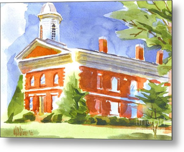 Courthouse Bright Metal Print