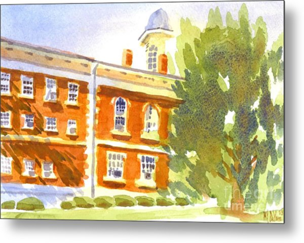 Courthouse In August Sun Metal Print