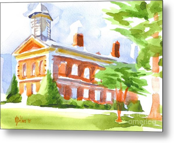 Courthouse In Summery Sun Metal Print