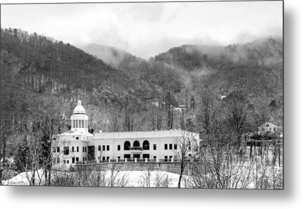 Courthouse Snow 2014 Metal Print