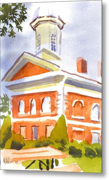 Courthouse With Picnic Table Metal Print