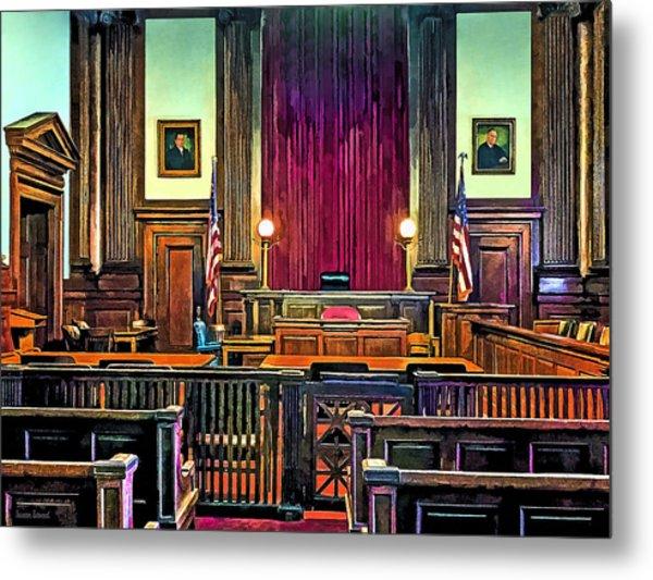 Courtroom Metal Print