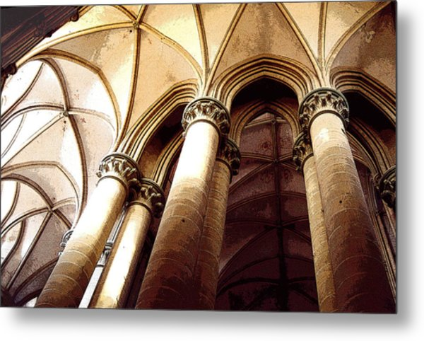 Coutances Looking Up Metal Print