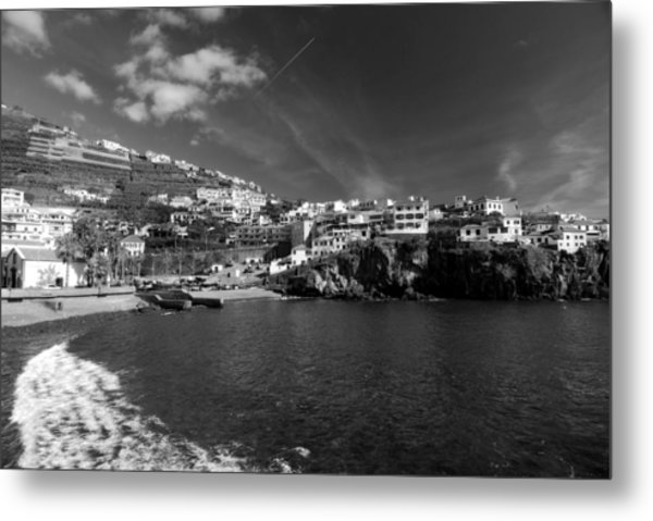 Cove In Black And White Metal Print