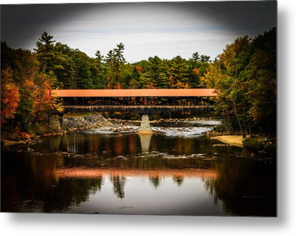 Covered Bridge Conway New Hampshire Metal Print by Michael Donovan