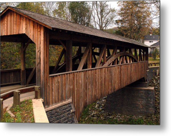 Covered Bridge Metal Print
