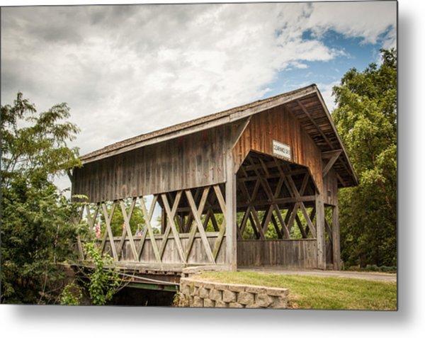 Covered Bridge In Nebraska Metal Print