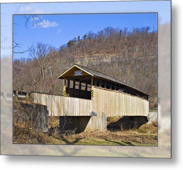 Covered Bridge In Pa. Metal Print