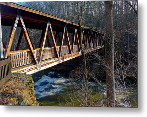 Covered Bridge In Roswell Metal Print