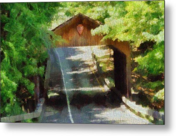 Covered Bridge In Sleeping Bear Dunes National Lakeshore Metal Print