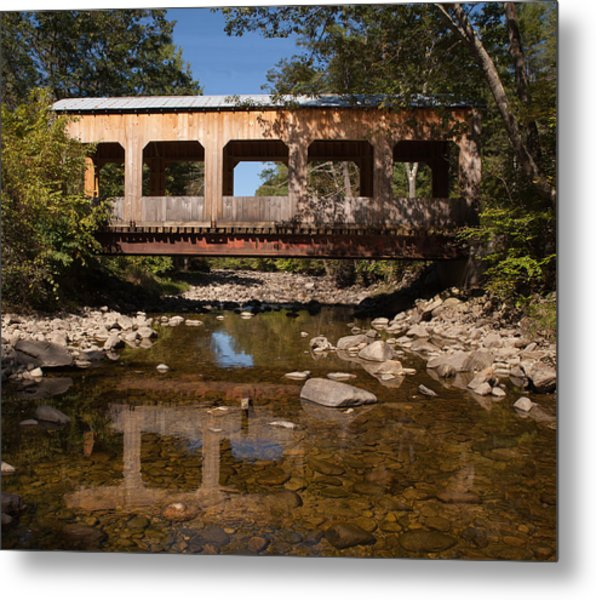 Covered Bridge Near Jamaica Vermont Metal Print