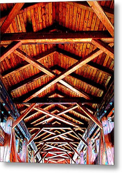 Covered Bridge Structure Metal Print