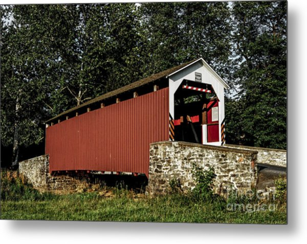 Covered Bridge Metal Print by Timothy Clinch