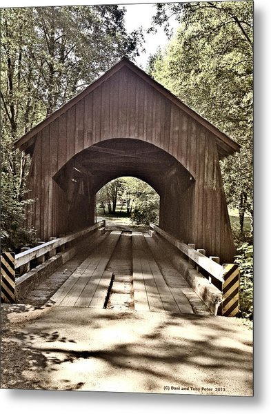 Covered Bridge Yachats Oregon Metal Print