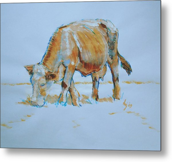 Cow Painting Metal Print