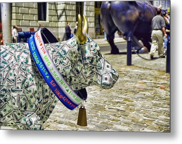 Cow Parade N Y C  2000 - Live Stock Cow Metal Print