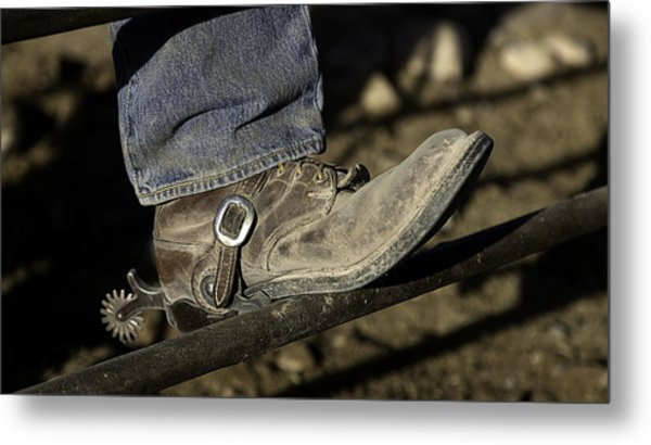 Cowboy Boots And Spurs Metal Print