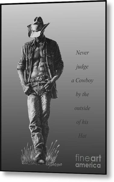 Cowboy Hat Verse Metal Print