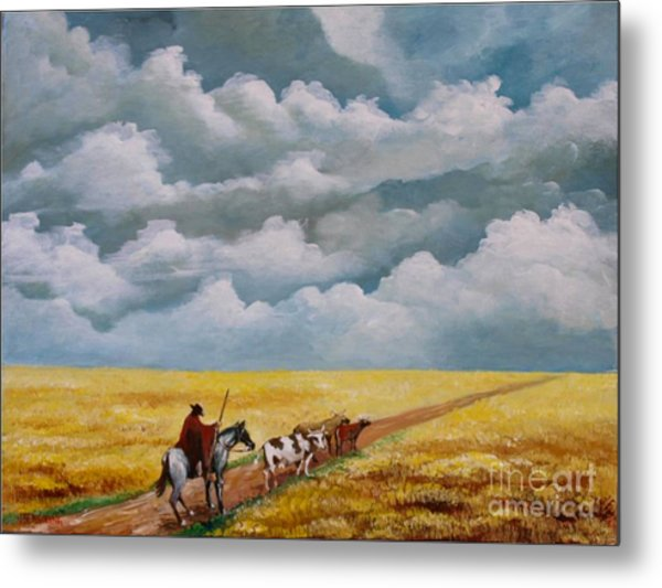 Cowboy In The Pampa Metal Print