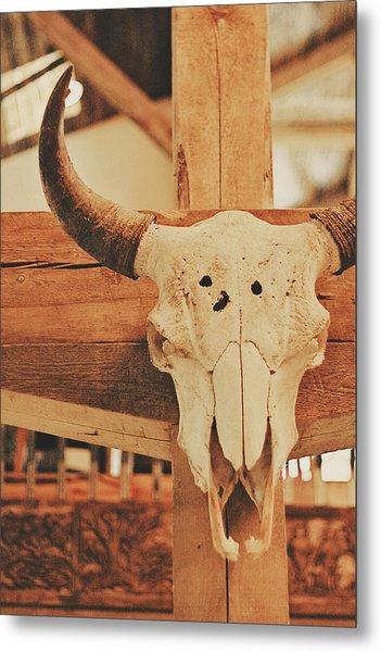 Cowboy Lounge Metal Print