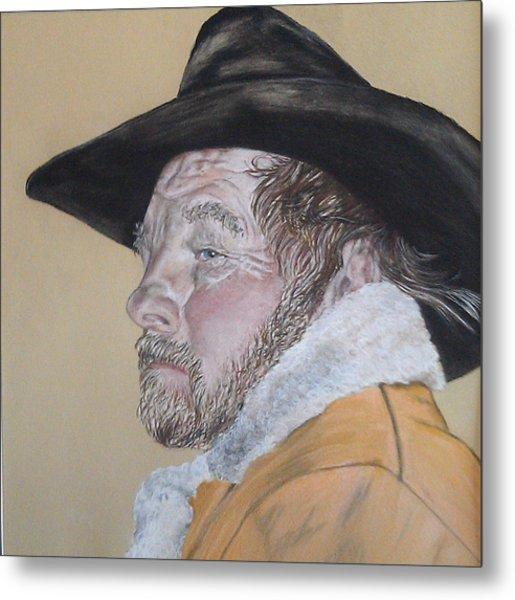 Cowboy Pastel Metal Print by Ann Marie Chaffin