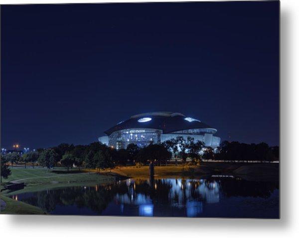 Cowboys Stadium Game Night 1 Metal Print