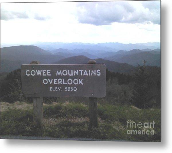 Cowee Mountains Overlook  Metal Print