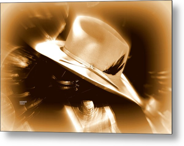 Cowgirls And Harley Metal Print