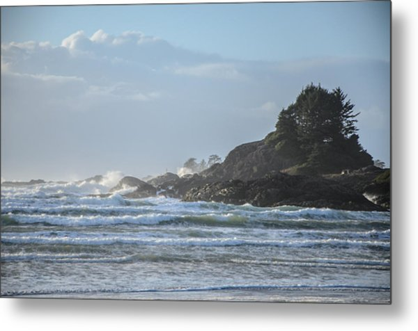 Cox Bay Afternoon Waves Metal Print